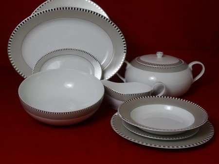 Serwis obiadowy QUADRO PLATIN 0946 BOGUCICE