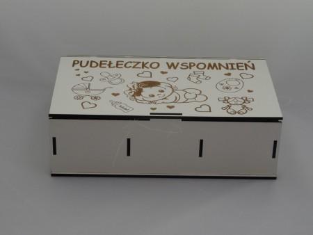 305162 KASETKA BIAŁA DZIELONA pudełeczko wspomnień